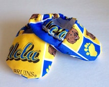 Ucla handmade baby booties, Ucla baby shoes