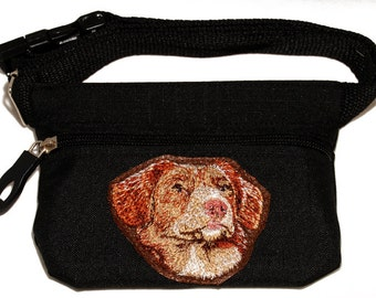 Nova Scotia Duck Tolling Retriever dog treat bag / dog treat pouch with waist belt. For dog shows and training. Great gift for breed lovers.