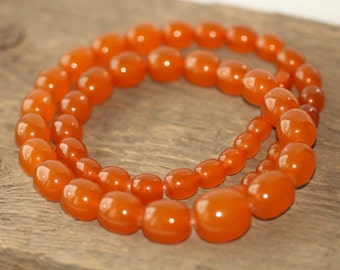 Vintage Heated Baltic Amber Beads Necklace 71.29 gr. 琥珀項鍊