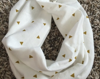 Gold triangle infant/toddler/youth infinity scarf