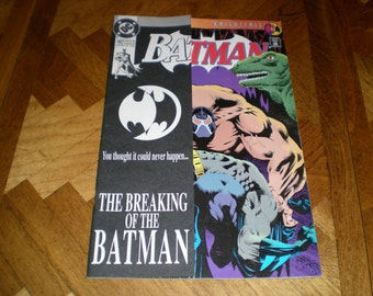 Batman 497, 498, Knightfall 11, 15, (1993), Breaking of Batman, Catwoman DC B1