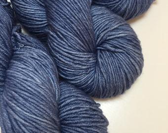 Hand dyed superwash merino DK yarn - Denim