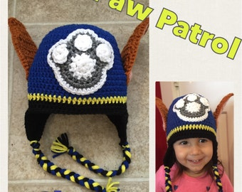 Crochet Hat Pattern Paw Patrol : crochet paw ? Etsy