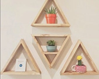 Triangle Shelves  - FREE SHIPPING - Stain Options - Sale!
