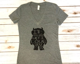 Women's where the wild things are shirt