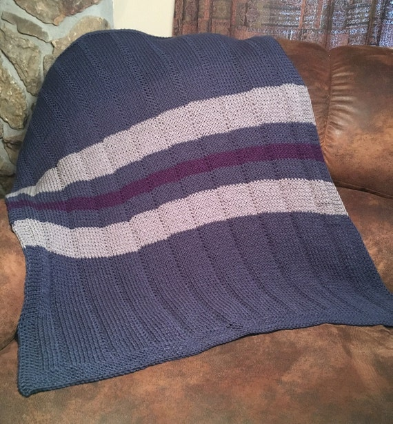 Striped Baby Blanket and Tassels Hat - two loom knit patterns