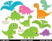 Dinosaur Clipart | Cute Dinosaur Clipart | Baby Dinosaur Clipart | Cute Trex clipart