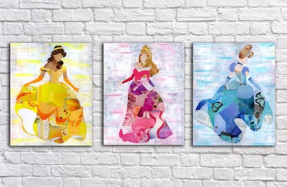 Princess Wall Art princess wall art princess decor belle wall art cinderella