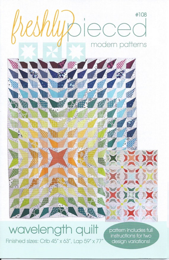 Quilt Paper Piecing Patterns For Beginners : Wavelength Modern Quilt Pattern by Freshly Pieced Beginner