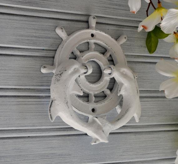 Dolphin door knocker door knocker ship wheel beach decor - Dolphin door knocker ...