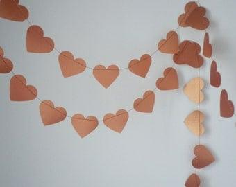 Copper heart garland  Wedding garland, Home decoration