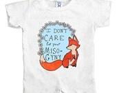 Feminist Fox Doesn't Care For Your Misogyny -- Onesie Bodysuit