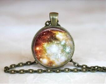 NIGHT SKY Pendant •  Big Bang •  Universe •  Bright Night Sky •  Space Jewellery • Gift Under 20 • Made in Australia (P0156)