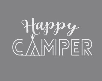 Happy Camper Iron On Decal