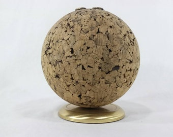 Mid century Pat bulletin ball cork desk accessory vintage office paperweight