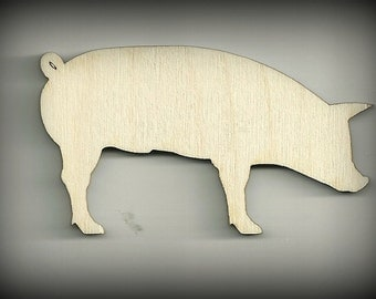 Pig, Swine, Farm, Craft, Dairy and Barn, Cutouts, Wood, Baby Mobile Unfinished, DIY, You Decorate, Scrap Book Items, Decorations