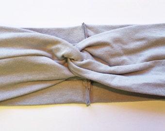 Solid Light Gray turban headband