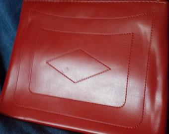 Vintage Red 1960's Cherry Red Mod Retro Handbag