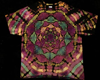 Men's 2XL Mandala Reverse Tie Dye T Shirt