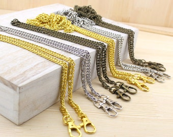 15 pieces 120cm 48inches Strong Metal Chain Strap With Two End Clasps For handbags