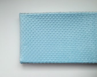 Minky Changing Pad Cover - Light Blue