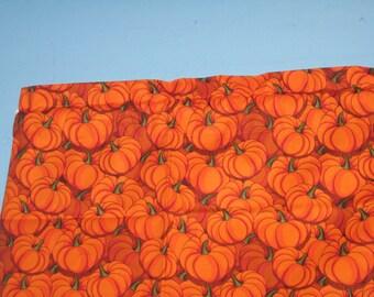 ORANGE PUMPKIN ALLOVER  Handmade Cotton  Window Curtain Valance