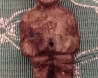Very Vintage Hand Carved Old Man