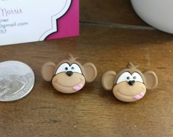 Silly Monkey Stud Earrings