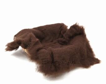 Wool cloud, CHOCOLATE , filling the baskets, newborn photo prop, woolen fluff