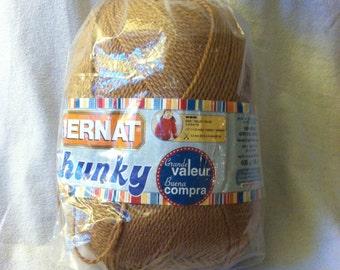 Bernat Chunky Sweater Yarn Light Brown 14 ounces