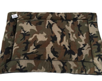 Camo Pet Bed, Camouflage Bedding, Dog Crate Pad, Hunting Gifts, Dog Bed Large, Large Crate Mat, Dog Kennel Pad, Made in Colorado