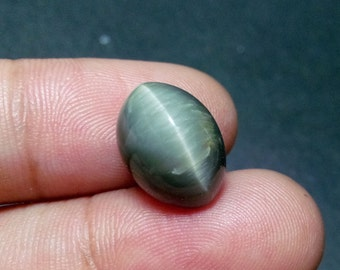 Natural 7.30ct Cats eye stone 10mm* 13mm Oval shape good quality Cabochon gemstone,Loose Gemstone 011