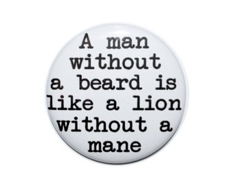 Beard for life I love my beard obey the beard growing a beard beard life men with beards beard buttons beard accessories 2 1/4 inch button