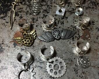 Steampunk themed ear cuffs