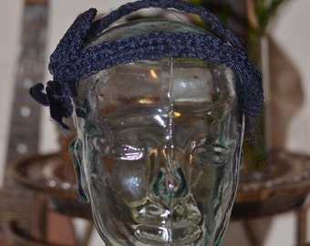 Vintage Estate Navy Blue Veil Hat