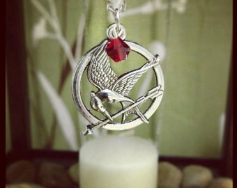 Silver Mocking Jay Charm Necklace