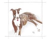 DRAW MY PET customised pet portrait print