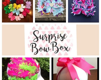Bow Subscription Box, Ships Immediately, Birthday Gift Ready, Monthly Bow Subscription Box, Monthly Bows & More Subscription Box, 3 Sizes