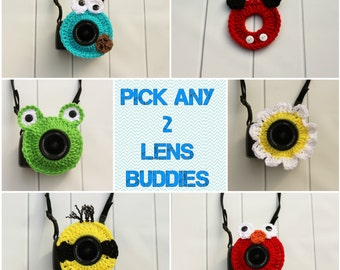 Camera Lens Buddy, Crochet Lens Buddy, Camera Lens Critter, Camera Buddy, Lens Buddy, Photography Helper, Smile Catcher, Animal Lens Buddy
