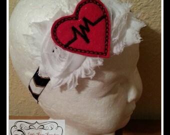 CHD Awareness Shabby Headband