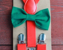 Christmas Bowtie & Suspender Set