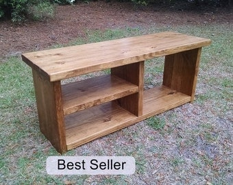 Shoe and Boot Cubby Bench