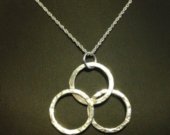 Trio Hoop Necklace