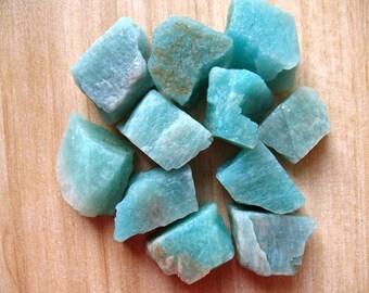Natural Amazon Stone Loose Stone Nugget Brazil Rough Blue Amazonite Crystal Stone Gemstone Healing Crystal Stone A081