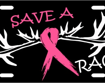 Save A Rack Breast Cancer License Plate Tag