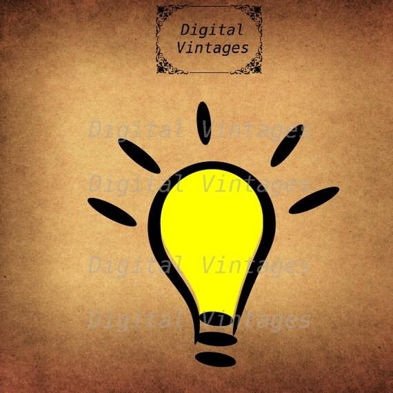 Light Bulb Good Idea Classic Retro llustration Vintage