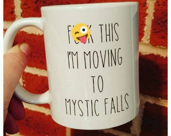 The Vampire Diaries fan themed mug novelty comedy gift not available on the high street Mystic Falls