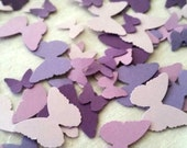 Purple Butterfly Party Decorations,  Butterfly Confetti, Baby Shower, Purple, Lavender, Spring, Birthday Party