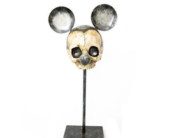 Vintage mickey mouse skull
