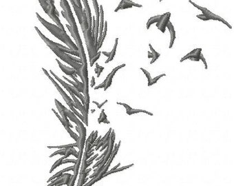 Machine Embroidery Design - Feathers and Birds